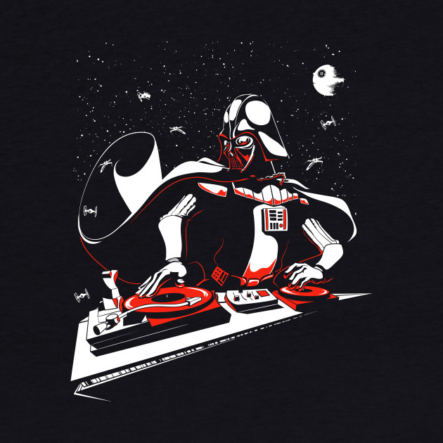 DJ Darth Vader in the house