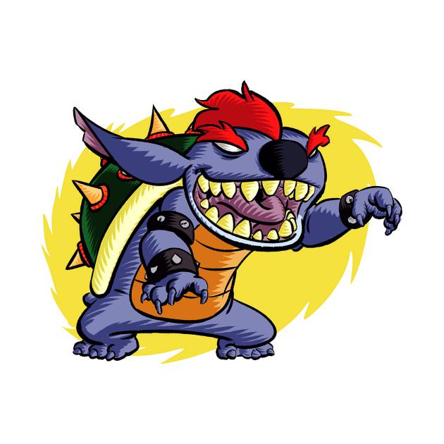 Bowser Parody Stitch Fan Art