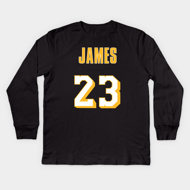 31e379f4f LeBron James Throwback Lakers Jersey 2 - Lebron James - Kids Long ...