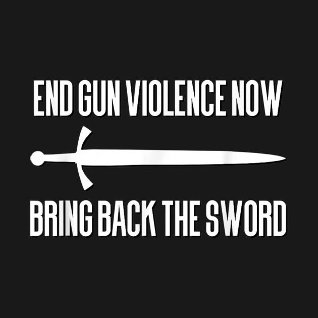 Bring Back the Sword LARP Historical European Martial Arts TShirt