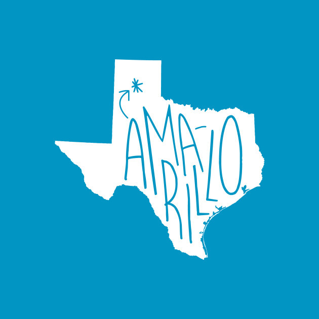 Amarillo, Texas (White Ink)
