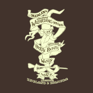 Merlin's Wizarding Services (2) t-shirts