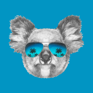2eefea11097 Koala with mirror sunglasses T-Shirt