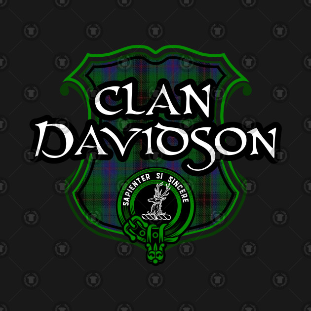 Clan Davidson Surname Scottish Clan Tartan Crest Badge