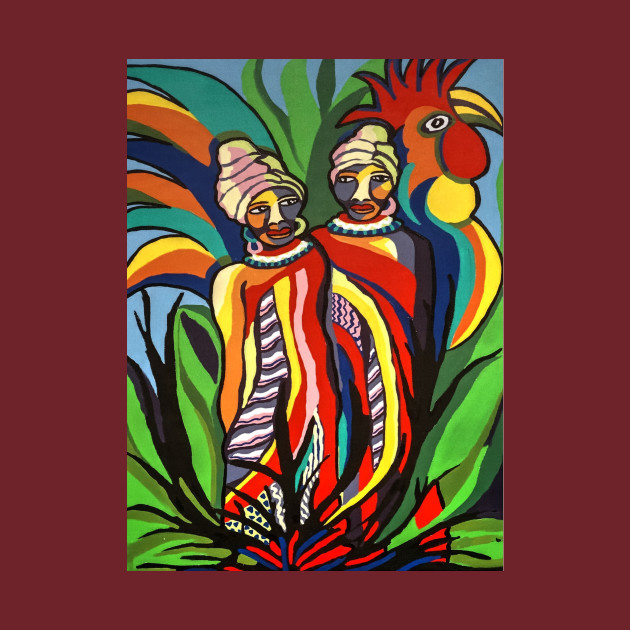 African Traditional Tribal Women Abstract Art Canvas Painting 2