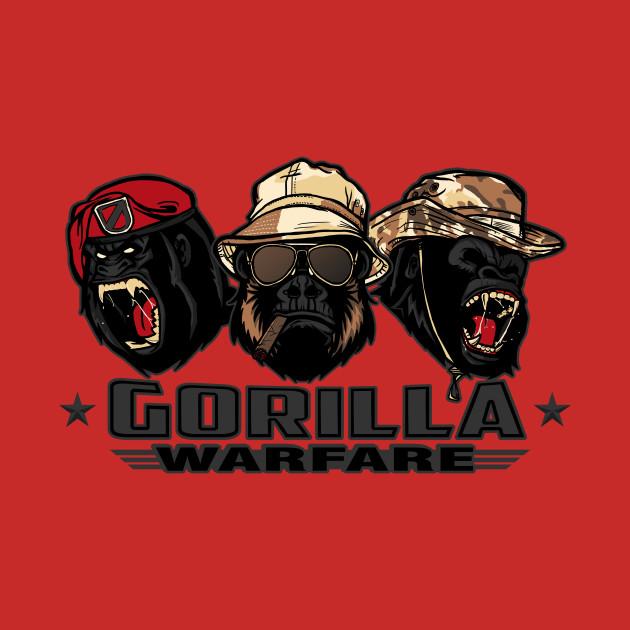 Gorilla Warfare – Gray Variant T-Shirt