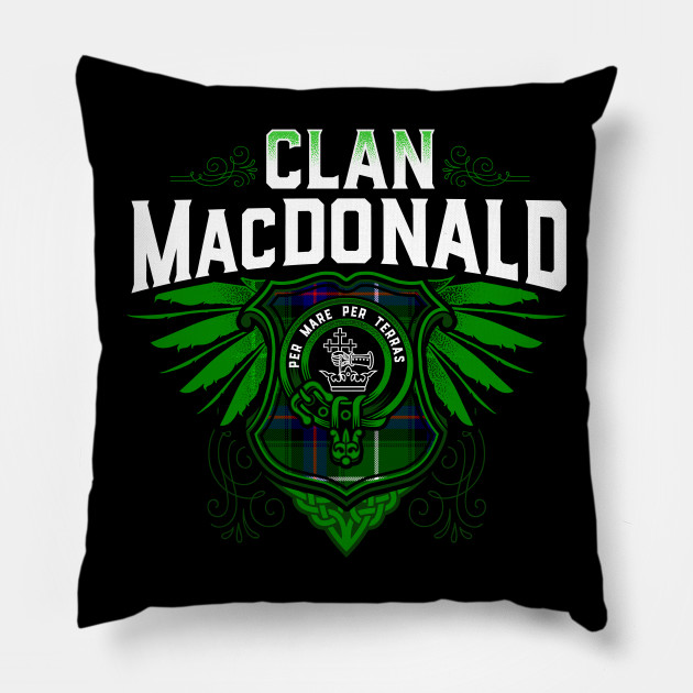 24f3930a9 Clan MacDonald - Macdonald Surname - Pillow | TeePublic