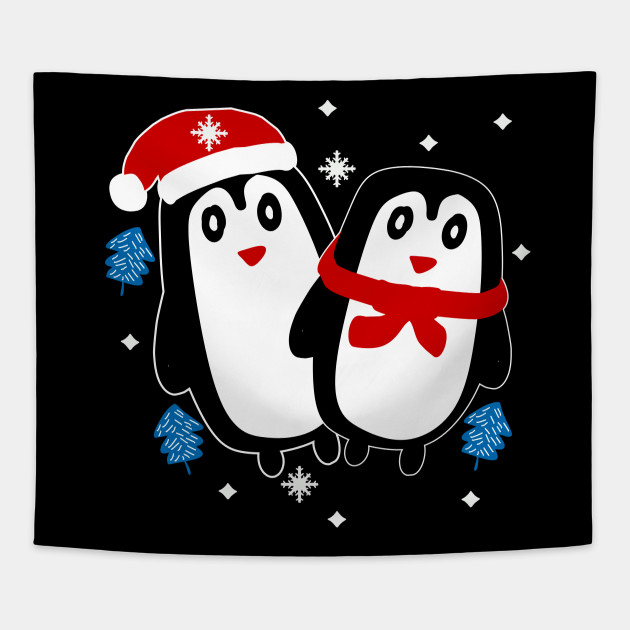 Christmas Penguin - Christmas Gifts - Tapestry | TeePublic