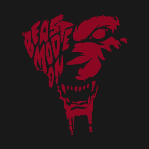 blood beast mode hustler tshirt teepublic