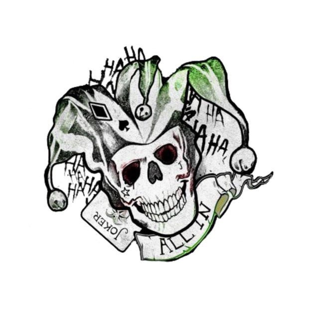 joker logo suicide squad tshirt teepublic