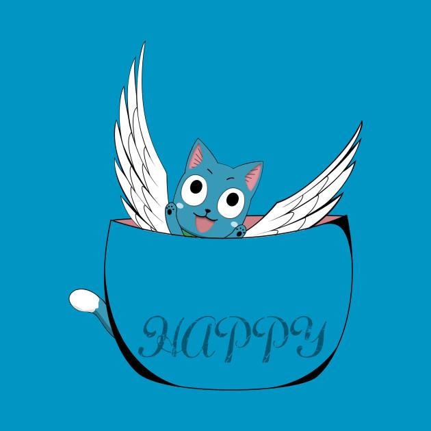 Fairy Tail, Cute Cat (Happy)  T-Shirt
