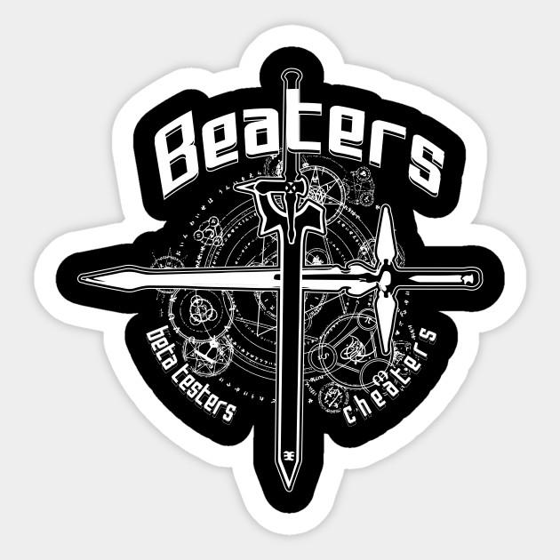Beaters Sword Art Online Sword Art Online Sticker Teepublic