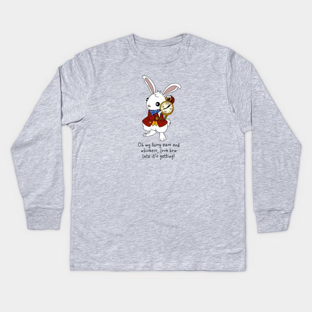 d49ce35ed White Rabbit - Alice in Wonderland - Mad Hatter - Kids Long Sleeve T ...