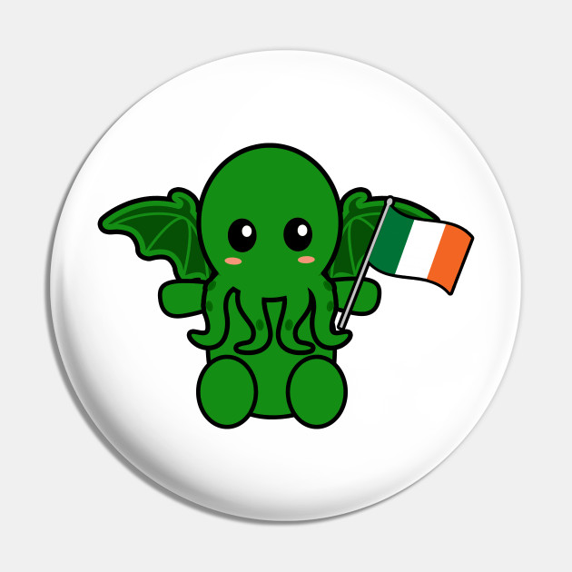 Cthulhu With An Irish Flag
