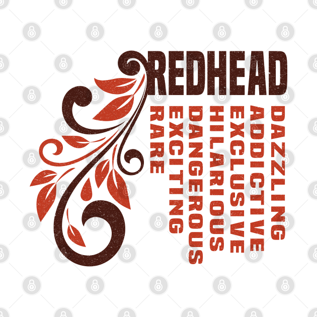 Awesome Red hair Illustration - Lovely Gift idea for Female Redhead Girlfried, Bestfriend, Sister and Mother