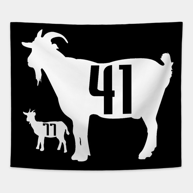 31ffaa083 The GOAT - Dirk Nowitzki and Luka Doncic - The Goat - Tapestry ...
