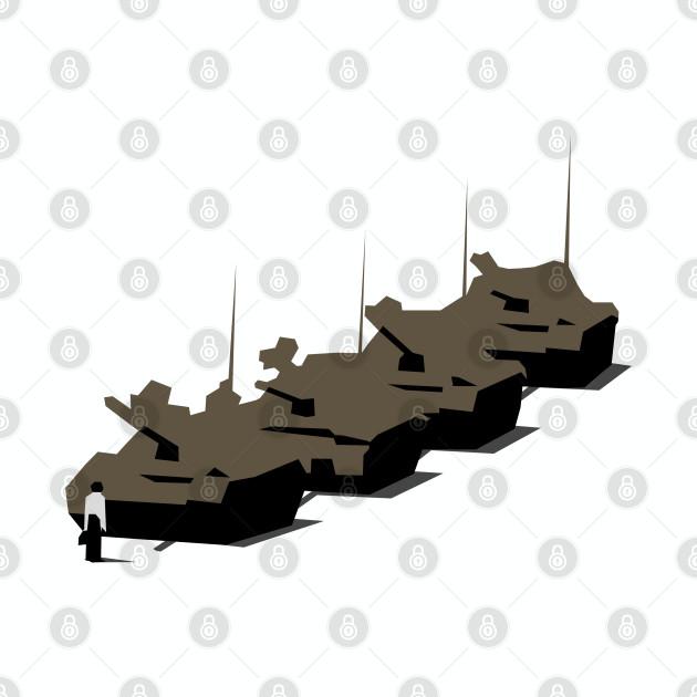 Tank Man Vector Graphic