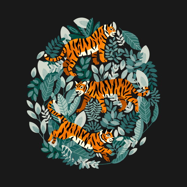 Bengal Tiger Teal Jungle