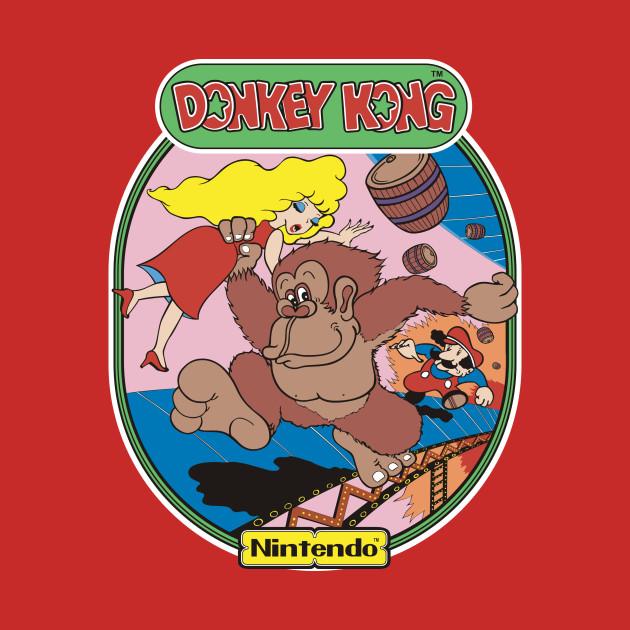 Donkey Kong Cabinet art