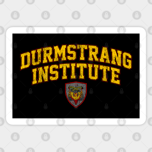 Durmstrang Institute Durmstrang Sticker Teepublic Amidst the triwizard tournament, owls and a best friend with pureblood mania, mallory ends up daughter of the legendary grindelwald, rhiannon has attended durmstrang institute for three years. teepublic
