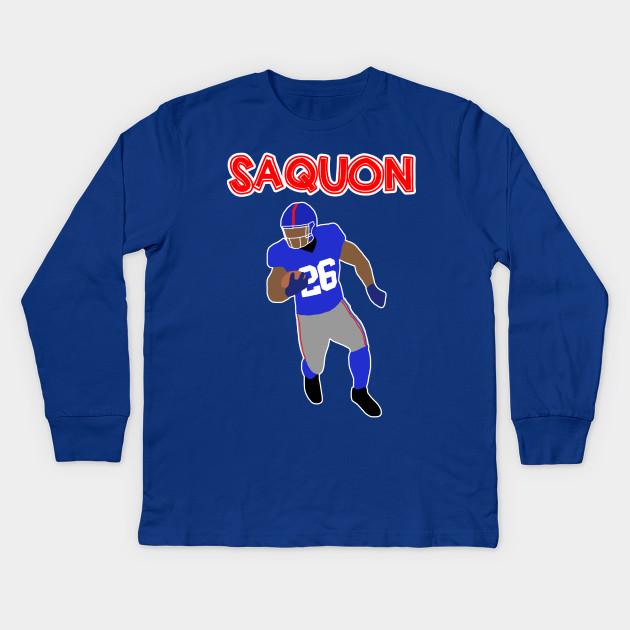70d0ffb416c Saquon Barkley - New York Giants - Giants - Kids Long Sleeve T-Shirt ...