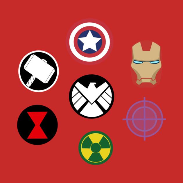 marvel avengers symbols marvel tshirt teepublic