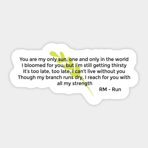 BTS English Lyrics RM Run