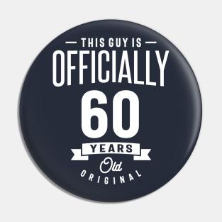 60th birthday badge button pin 60 year old born in 1961 sixtieth birthday idea