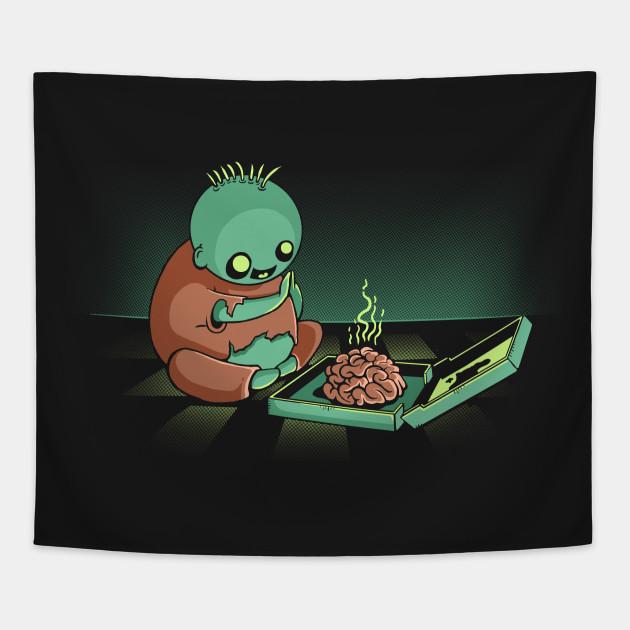 Cute Zombie Loves Brains Kawaii Halloween