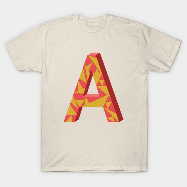 Letter A 3D Design   Letter   T Shirt | TeePublic