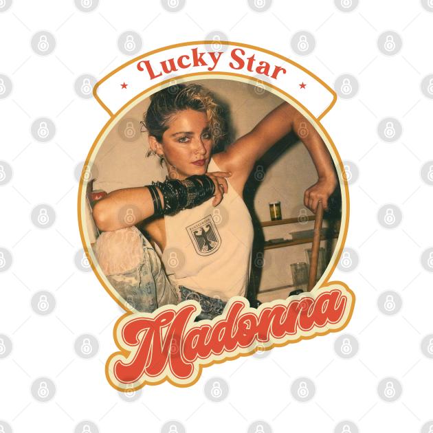 Retro Madonna Lucky Star 80s Tour Style Design