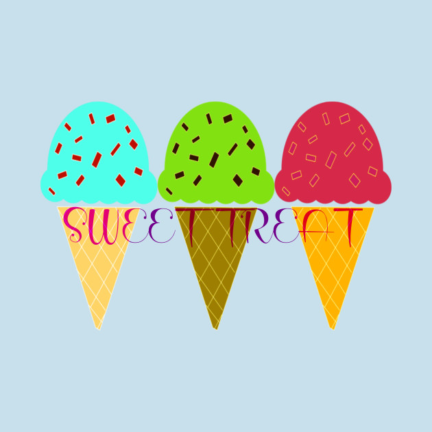 Sweet Treat Colorful Cones