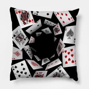 Playing Cards Pillows Teepublic