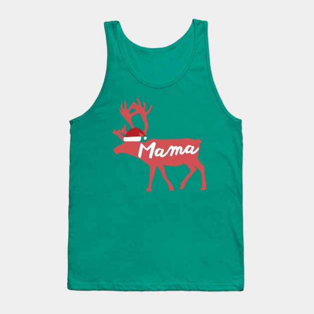 Mama Mother Mom Reindeer Family Group Christmas Eve Matching Tank Top
