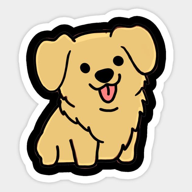 Cute Golden Retriever Cute Golden Retriever Sticker Teepublic Uk
