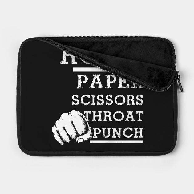 Rock, Paper, Scissors, Throat Punch Funny Gift