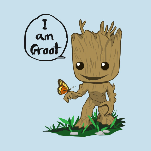 I Am Groot T Shirt I am Groot - Guardians...