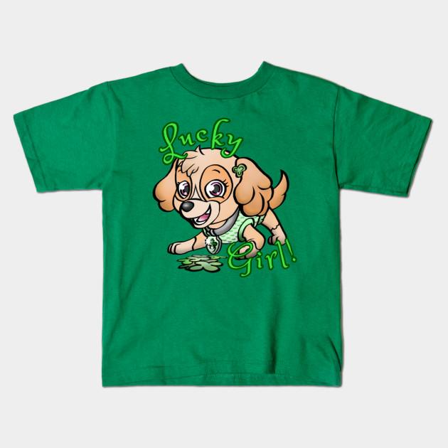 f99a812c1b7b4 Lucky Girl! - Paw Patrol - Kids T-Shirt | TeePublic