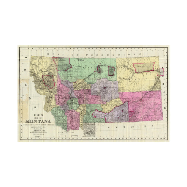 Vintage Map of Montana (1890)