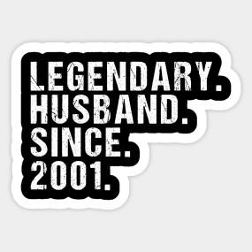Herren Legendary Husband Since 2001 Geschenk Zum 18