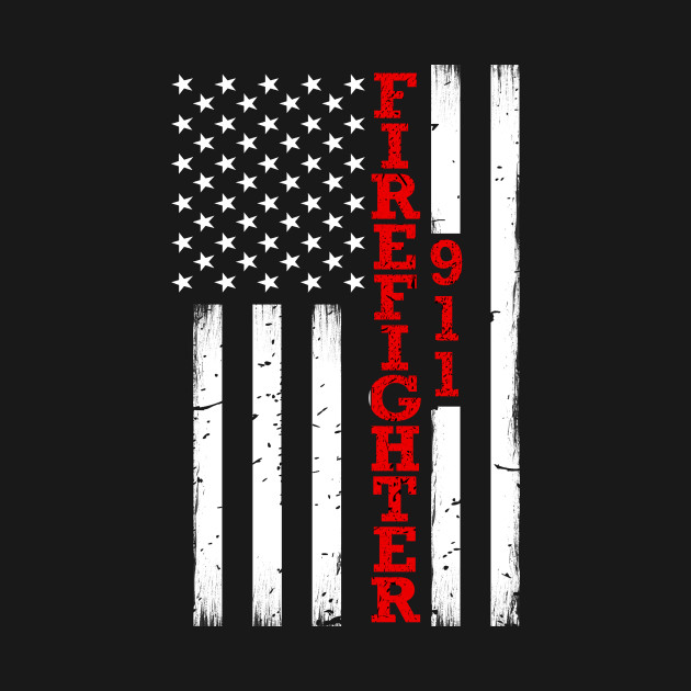Red Line American Flag >> Firefighter Thin Red Line American Flag
