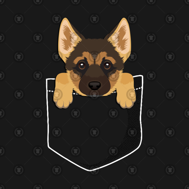 German Shepherd Puppy In A Pocket German Shepherd Gifts T Shirt