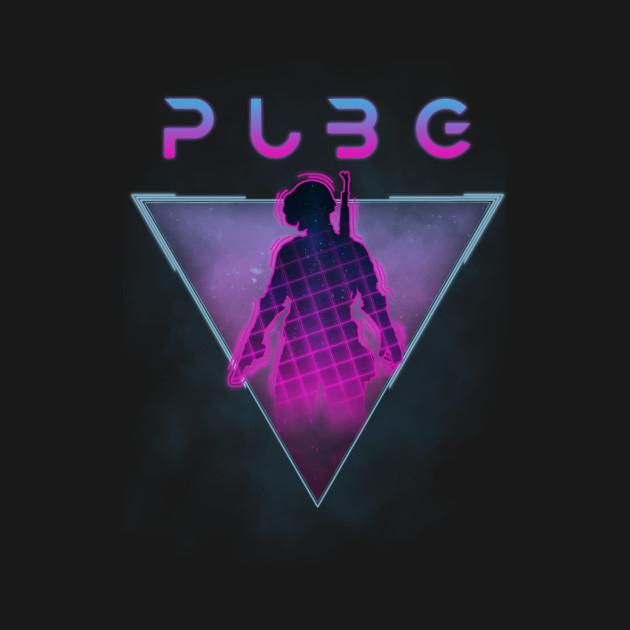 PUBG (PlayerUnknown's Battlegrounds) Retro 80s Design