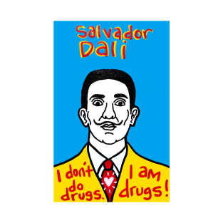 Salvador Dali pop folk art t-shirts
