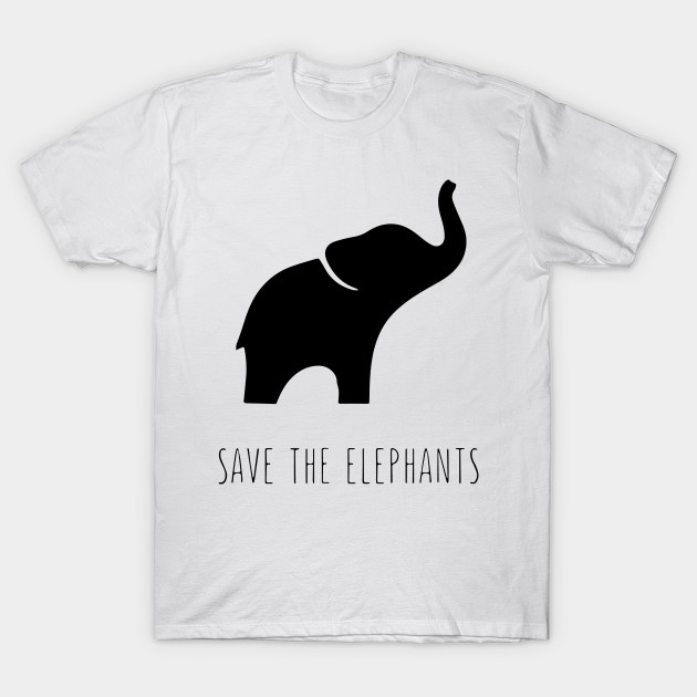 487170632cf0 ... save the elephants for people who love elephants save t shirt ...