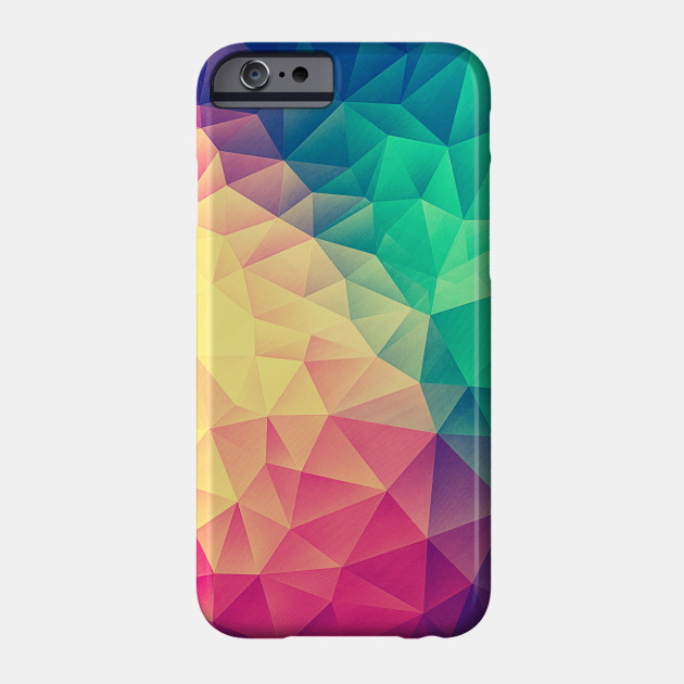 d175b6a7 Color bomb! Abstract Polygon Multi Color Cubism Low Poly Triangle Design  Phone Case