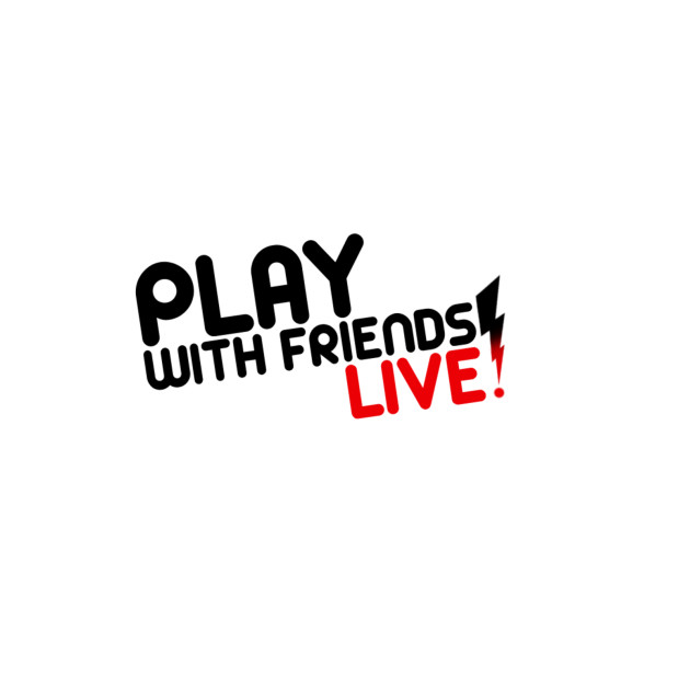 Play with Friends Live - Black Font