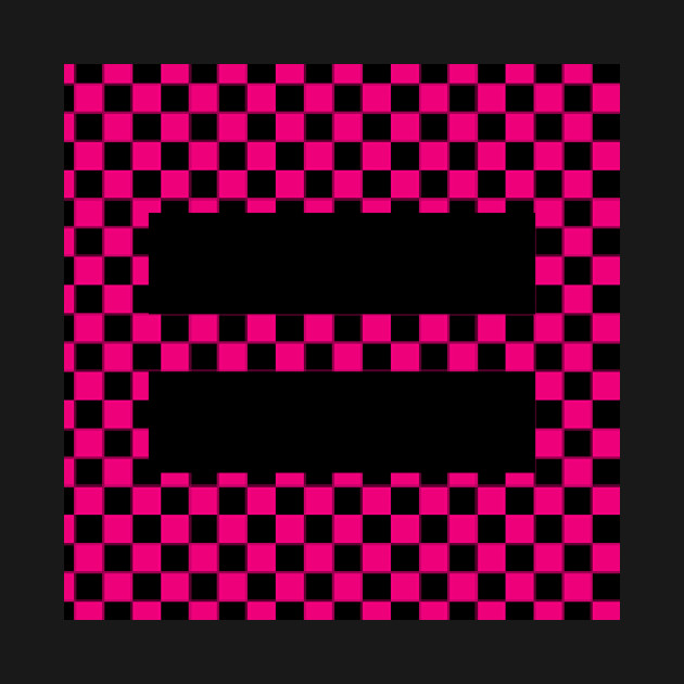 Checkerboard Equality Pink