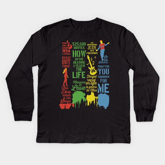 083b1d3e Rent Best Quotes - Rent Musical - Kids Long Sleeve T-Shirt | TeePublic