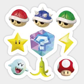Mario Kart 7 Stickers | TeePublic